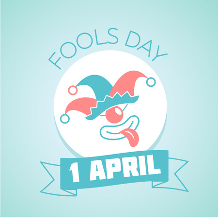 Calendar for each day on April 1. Holiday - Fools Day. Icon in the linear style Vector Illustration