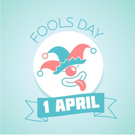 Calendrier pour chaque jour le Avril 1. Holiday - Fools Day. Icône dans le style linéaire Vecteurs