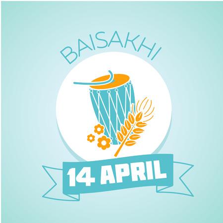 educacion ambiental: Calendario para cada d�a el 14 de abril de vacaciones - Baisakhi (Vaisakhi). la educaci�n ecol�gica del icono en el estilo lineal. D�a del conocimiento ambiental Vectores