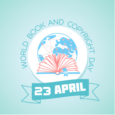 Calendar for each day on April 23. Greeting card. Holiday - World Book and Copyright Day. Icon in the linear style