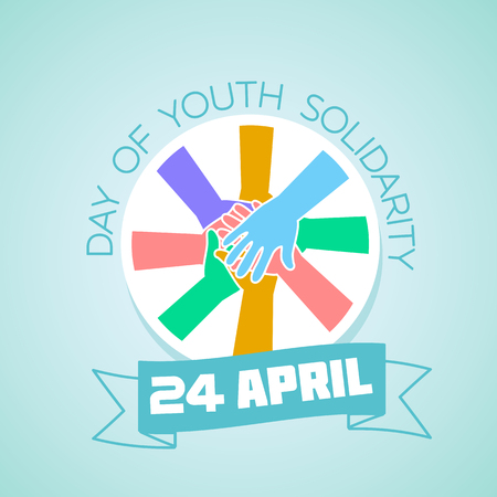 community event: Calendar for each day on April 24. Greeting card. Holiday - International Day of Youth Solidarity. Icon in the linear style