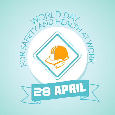safety: Calendar for each day on April 28. Greeting card. Holiday - World Day for Safety and Health at Work. Icon in the linear style