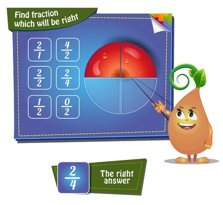 faction: Visual Game for children. Task - Find faction which will be right. apple part