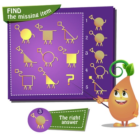 guess: Visual Game for children. Find the missing item Illustration