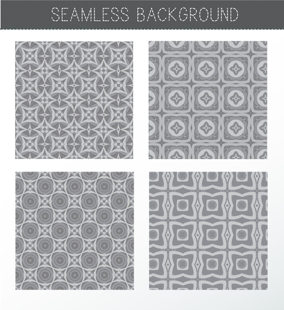 background kaleidoscope: Seamless grey backgrounds collection. Set of tile and lattice patterns. Vintage decorative elements. Islam, Indian. Ceramic tile. Set of beautiful ethnic, oriental ornaments. Abstract background. Kaleidoscope