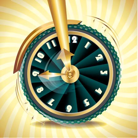 year increase: wheel as symbol of transience of time