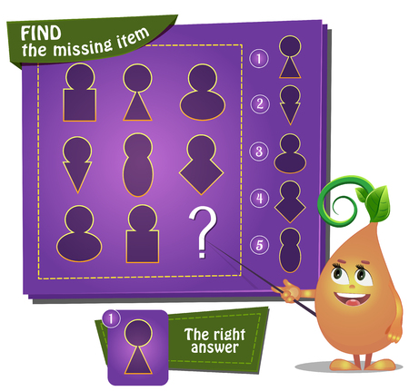 guess: Visual Game for children. Task: find the missing part Illustration