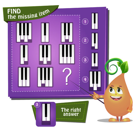 find: Visual Game for children. Task: find the missing part Illustration