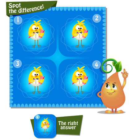 guess: Visual Game for children. Task: Spot the difference