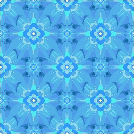 abstract flowers: seamless abstract background with blue flowers Illustration