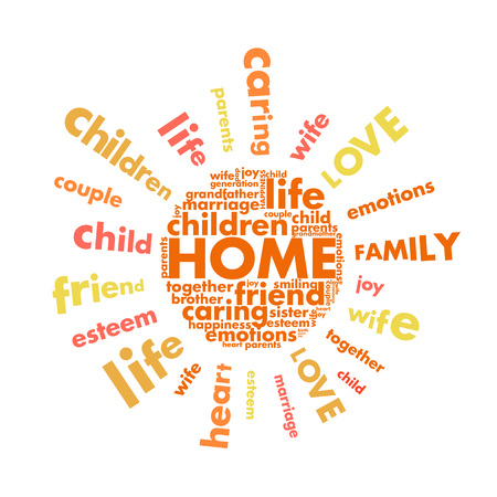 the concept of home in the form of letters