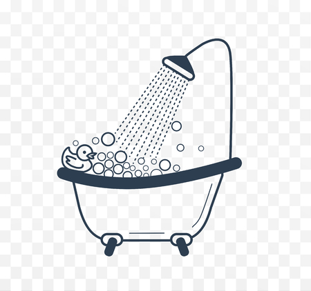hot tub: bath duck icon with a linear style Illustration