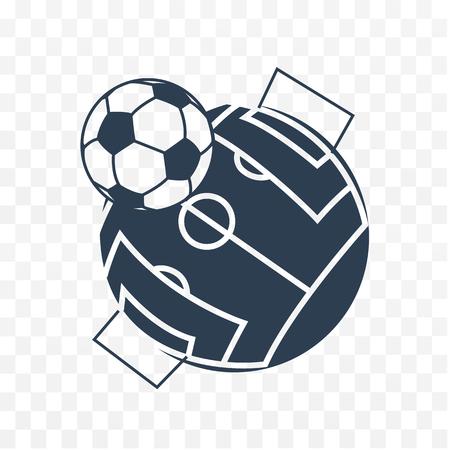 Football soccer ball icon. Long shadow flat design. Vector illustration. Vetores