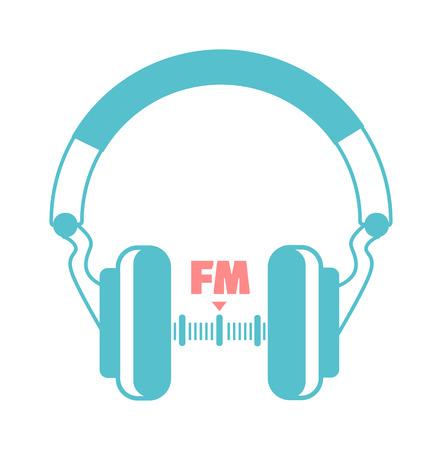 fm: headphones icon listening to the radio concept