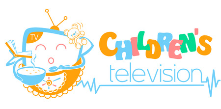 Banner childrens television. Icon in the linear style