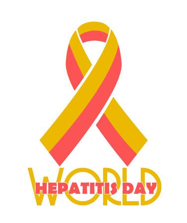 hepatitis prevention: Vector illustration of a Ribbon for World Hepatitis Day.