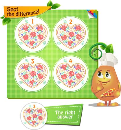 Visual Game for children. Illustration