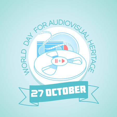 World Day for Audiovisual Heritage icon.