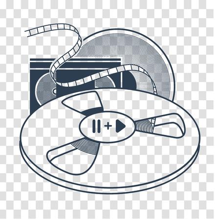 Audiovisual icon vector illustration. Illustration