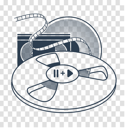 Audiovisual icon vector illustration. Illustration