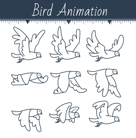 Animation of a dove vector illustration. Stock fotó - 88674111