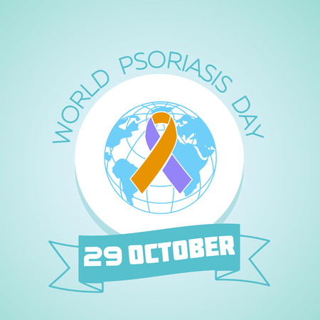Calendar for each day on october 29. Greeting card. Holiday -  World Psoriasis Day. Icon in the linear style Illustration