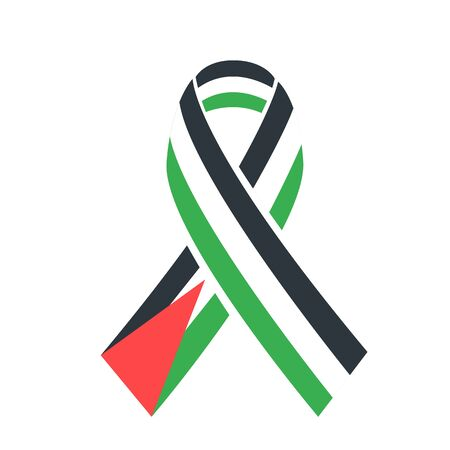 icon International Day of Solidarity with the Palestinian People.  icon ribbon with flag of palestine