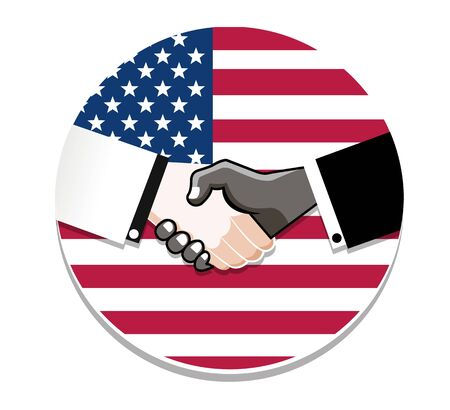 Symbol handshake in honor of Martin Luther King day.