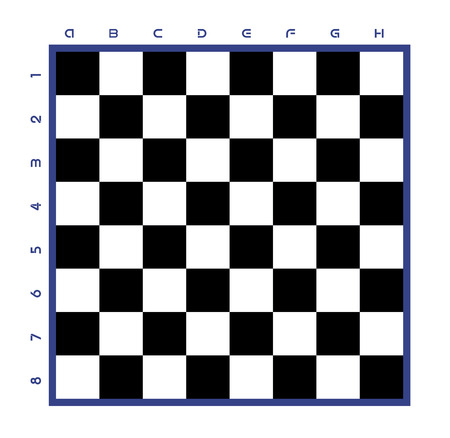 Chess table. Illustration of chess table. Vector chess table. classical black and white chess board