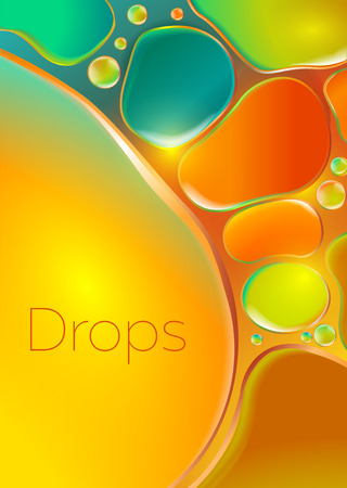 colored drops on the glass. background for advertising perfume