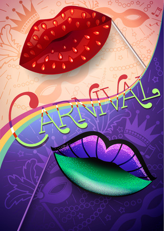 Banner of carnival, festival, birthday. The concept of the holiday day and night.