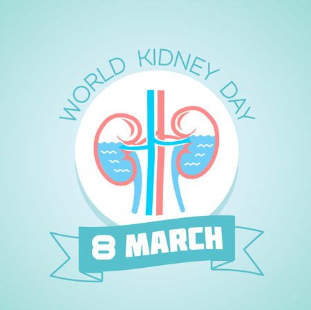 World kidney day illustration 向量圖像