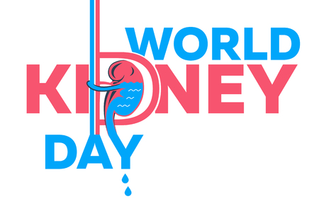 World Kidney Day Poster Or Banner on a white background