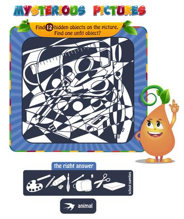 Educational game for kids illustration 일러스트