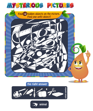 Educational game for kids illustration Illustration