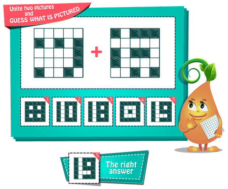 Educational game for kids and adults development of logic vector