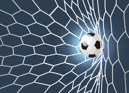 background for a soccer ball in the grid. football