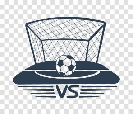 football battles icon. silhouette battle vs match, game concept competitive vs. Çizim