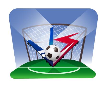 world championship football cup poster illustration