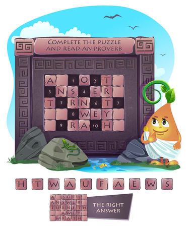 Visual sample games for children and adults. Complete the puzzle and read an proverb.