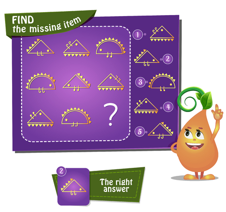 educational game for kids and adults development of logic, iq. Task game for children find the missing item