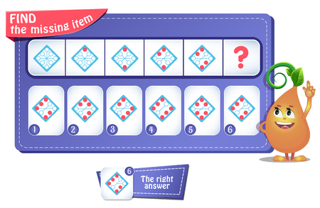 educational game for kids and adults. development of logic, iq. Task game  what comes next? Ilustrace