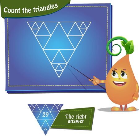 Visual Game for children and adults. Task: Count the triangles