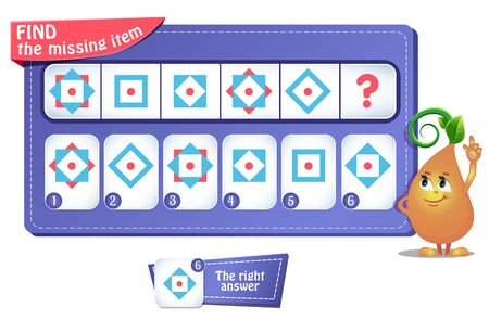 educational game, riddle for kids and adults. development of logic, iq. Task game  what comes next?