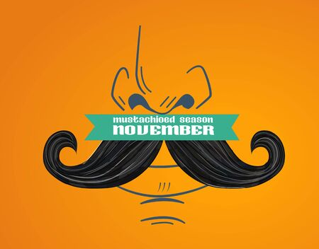 banner for Awareness Month november Prostate Cancer . Men Healthcare Concept mustache season Stock Illustratie