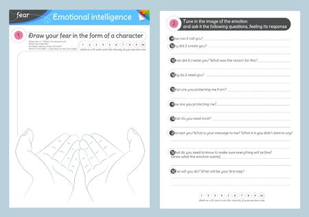 educational game for children and adults on the study of emotional intelligence. The task of studying and analyzing your emotions of fear is to draw and answer questions.