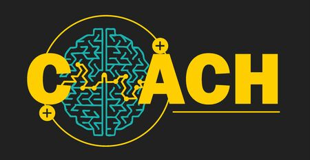 Coaching concept, psychotherapy as of finding a way out and success in any situation. Icon for education, business and career advancement in linear style icon, vector sign.