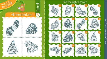 memory training for children and adults. task of the game is to remember, find the right answer