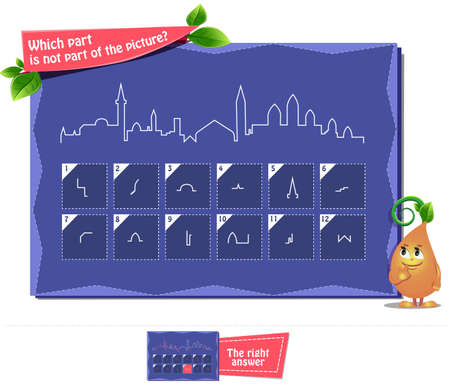 educational game for children and adults to develop attention. Task game which part is not part of the picture?
