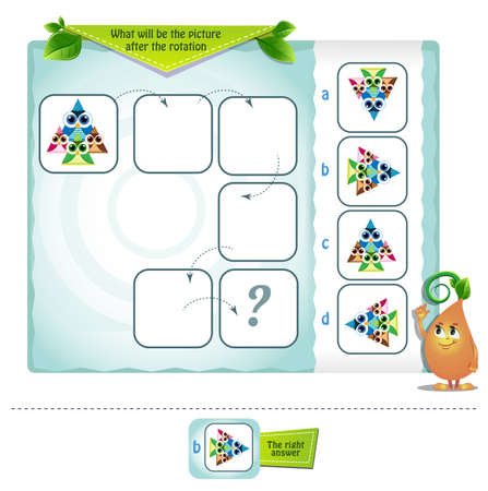 educational game, brainteaser for kids and adults development of logic ,. Complete each math analogy  イラスト・ベクター素材